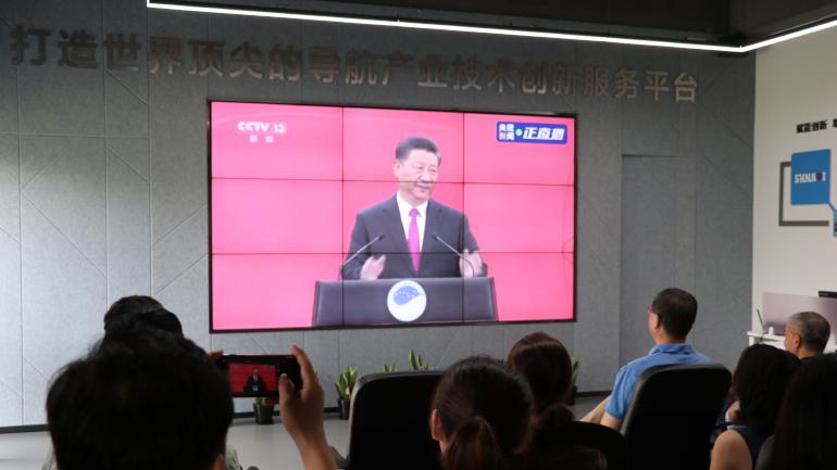 """▲习主席宣布""""北斗三号全球卫星导航系统正式开通"""""""